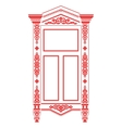 Traditional Russian window 2 vector image