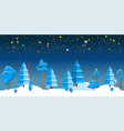 winter night forest vector image