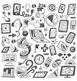 Devices  computers - doodles set vector image