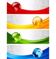 four banners vector image vector image