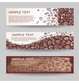 banners with coffee drawn elements vector image