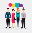 Business people with colorful dialog speech Social vector image