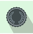 Medal with laurel wreath icon flat style vector image