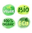 Bio natural food concept Set of labels vector image