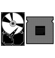 collection icons Computer Hardware Icons vector image