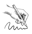 Drawing hand sketch vector image