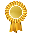 gold award seal rosette vector image