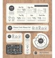 Restaurant Cafe Set Menu Graphic Design Template vector image