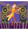 Young Artist of concert crowd vector image