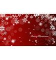 Abstract background with snowflakes and Merry vector image