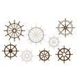 Steering wheels set vector image