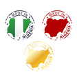 made in Nigeria stamp vector image