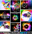 disco flyers vector image