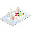 NYC Map 02 Building Isometric vector image