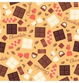 Seamless pattern with chocolate sweets isolated on vector image