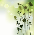 floral background dandelion and herbal vector image