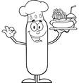 Happy Chef Sausage Cartoon vector image vector image