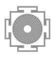 monocrome outline Sahasrara yantra vector image