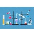 Chemical glassware laboratory vector image