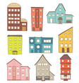 cartoon houses vector image