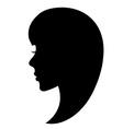 Girl face vector image