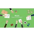 m and a merger and acquisition concept vector image