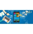 mobile application economy vector image