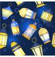 Ramadan Lanterns Background Pattern vector image