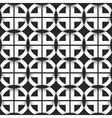 Seamless geometric pattern of black and white vector image