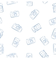 Seamless pattern from ink retro photocameras vector image