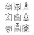 set of no shave november labels vector image