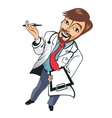Young funny good doctor vector image