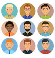collection of avatars of various young men vector image
