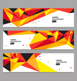 Header set vector image vector image