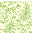 Decorative nature green seamless pattern vector image vector image