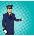Doorman concept comics style vector image