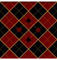 Card Suits Royal Red Black Diamond Background vector image