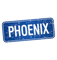 Phoenix blue stamp isolated on white background vector image