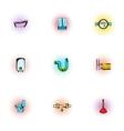 Equipment for bathroom icons set pop-art style vector image