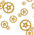 Golden gears pattern vector image