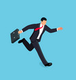 isometric running businessman isolated vector image