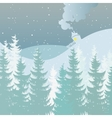 Merry Christmas and Happy New Year landscape vector image