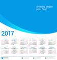 Calendar for 2017 year vector image