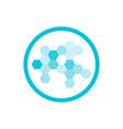 nanotechnology blue round icon vector image