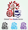 Global Tree Books vector image