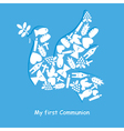 First Communion Invitation Card vector image vector image