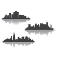 Silhouettes of downtown cityscape vector image