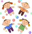 seamless background boy and girl vector image vector image
