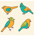 Set of birds with flowers for your design vector image