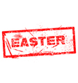 easter Red grunge rubber stamp vector image